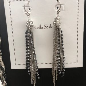 "S&D ""Adrienne"" Chain Dangle Earrings Stylist Pair"